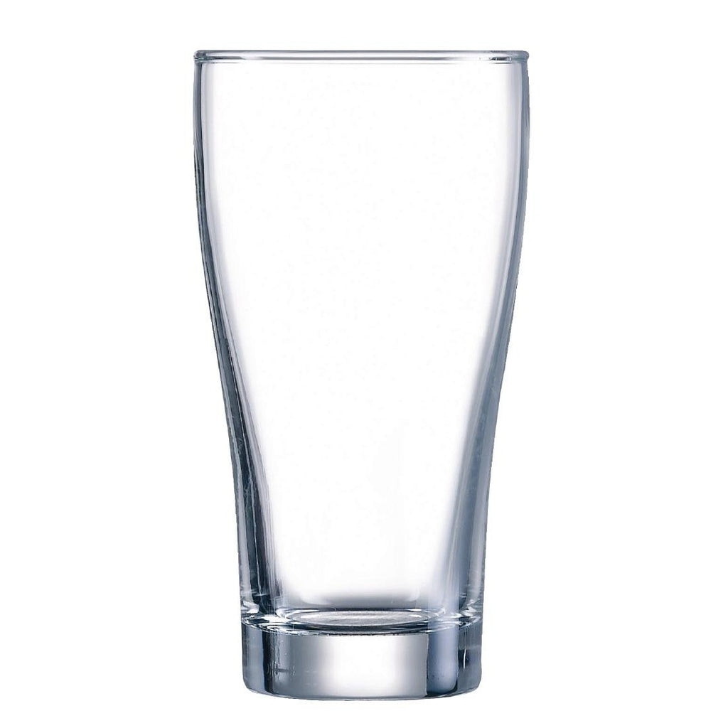 48PCE Arcoroc Conical Beer Glasses 285ml