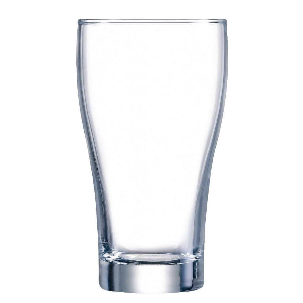 48PCE Arcoroc Conical Beer Glasses 425ml - ICE Group