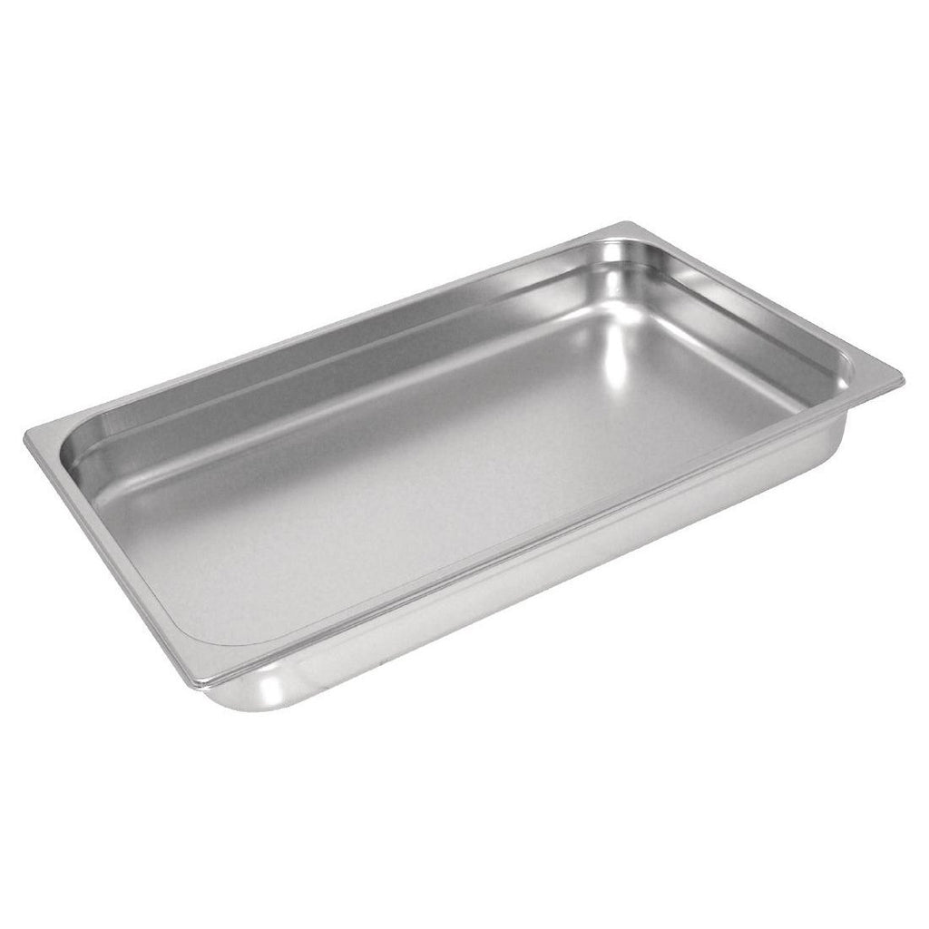 Vogue Heavy Duty S/Steel 1/1 Gastronorm 100mm Pan