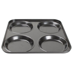 Vogue Carbon Steel Non-Stick Yorkshire Pudding Tray 4 Cup - icegroup hospitality superstore