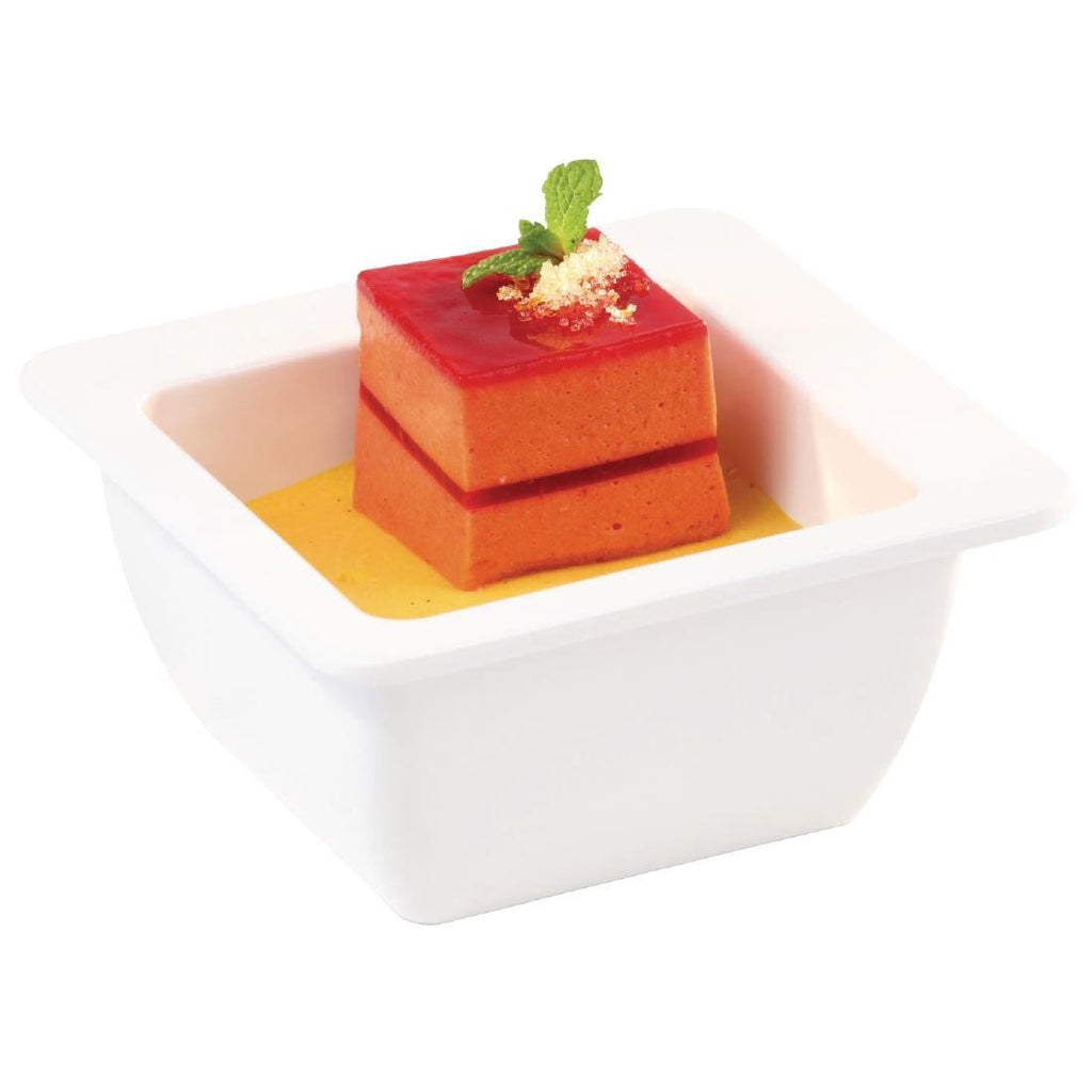 APS Apart Melamine Square Bowl White 200mm