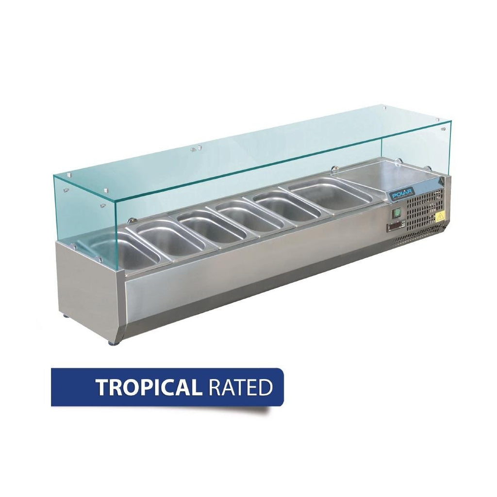 Polar 1500mm Refrigerated Servery Topper