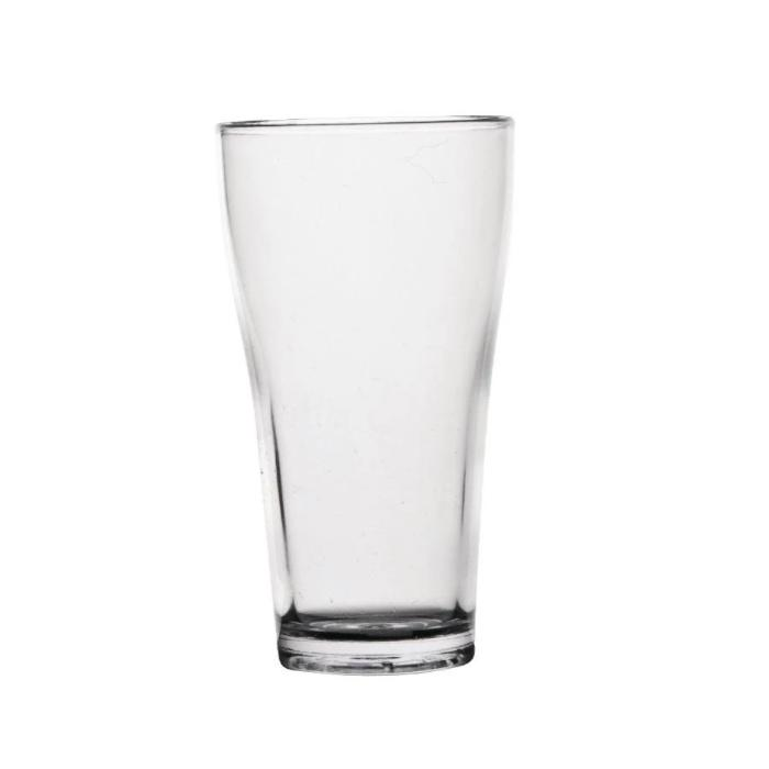50PCE Polycarbonate 285ml Conical Beer Glasses