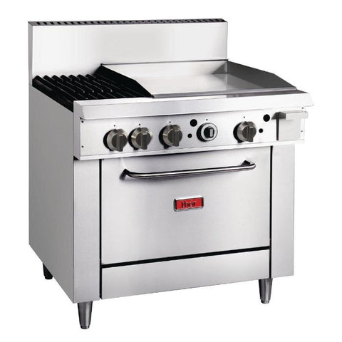 Thor 2 Burner Propane Gas Oven Range with Griddle Plate