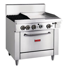 Thor 2 Burner Propane Gas Oven Range with Gridlde Plate - icegroup hospitality superstore