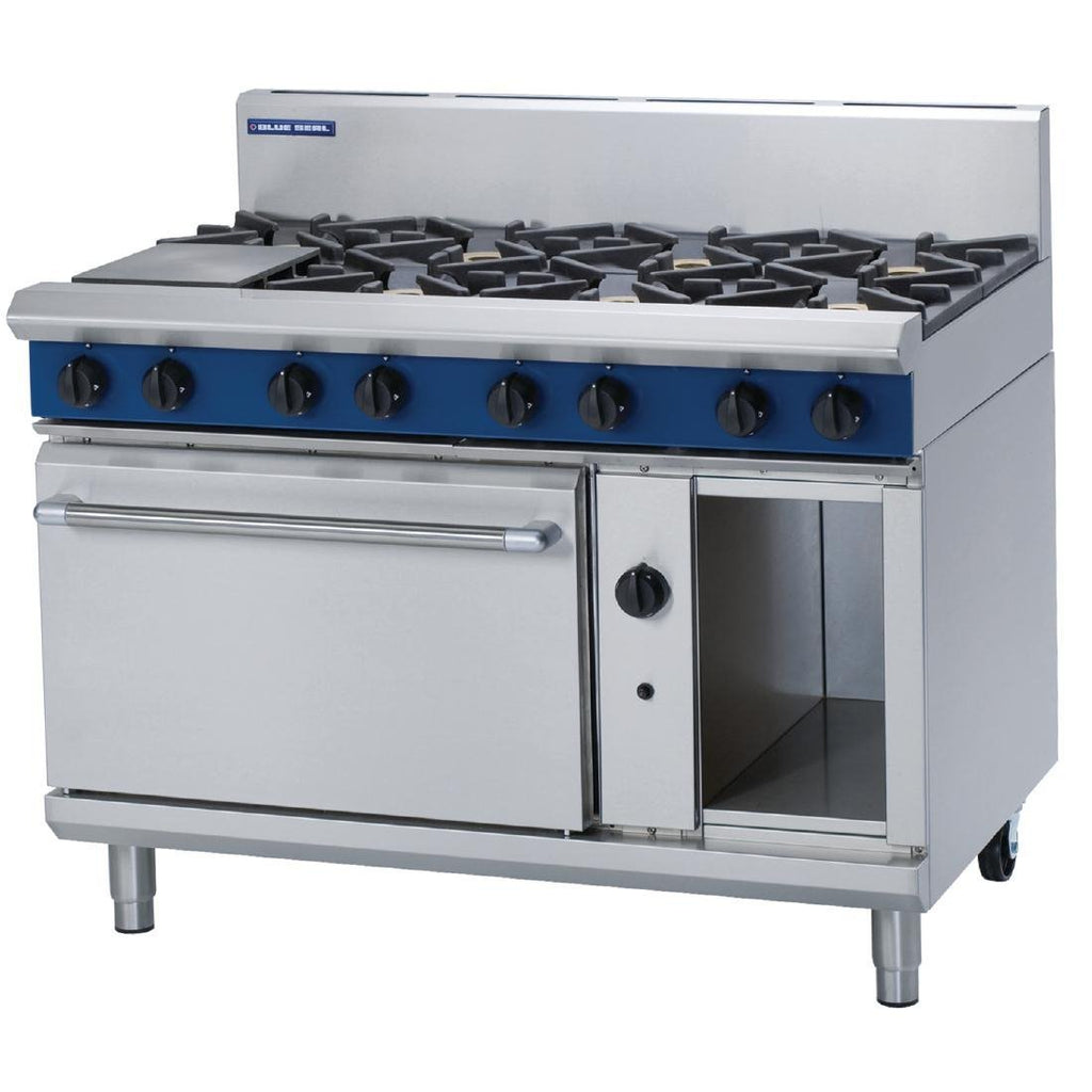 Blue Seal by Moffat 8 Burner Propane Gas Oven Range G508D