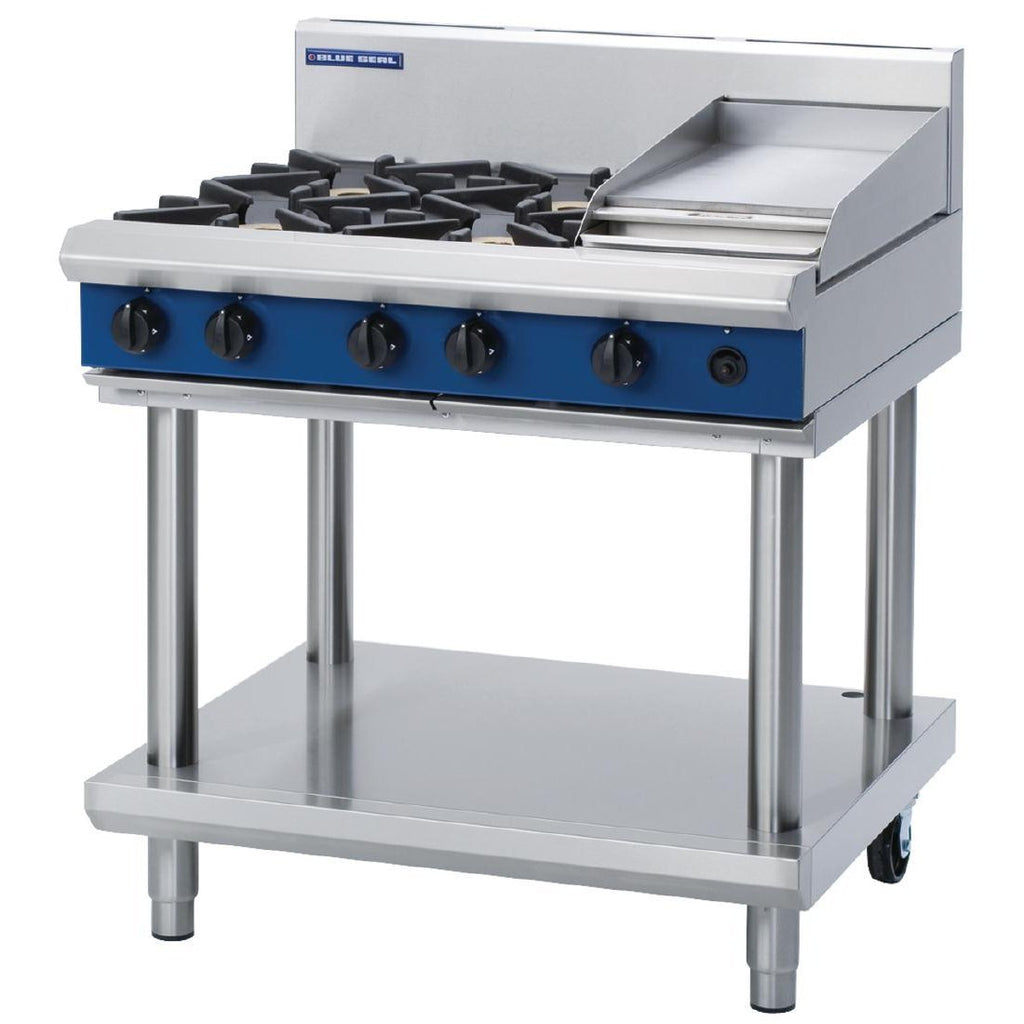 Blue Seal by Moffat 4 Burner Propane Gas Cooktop with Griddle Plate