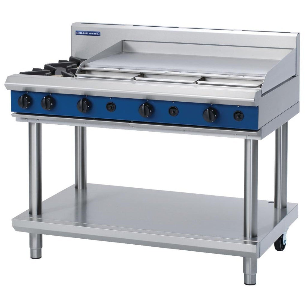 Blue Seal by Moffat Freestanding 2 Burner Propane Gas Cooktop with Griddle Plate
