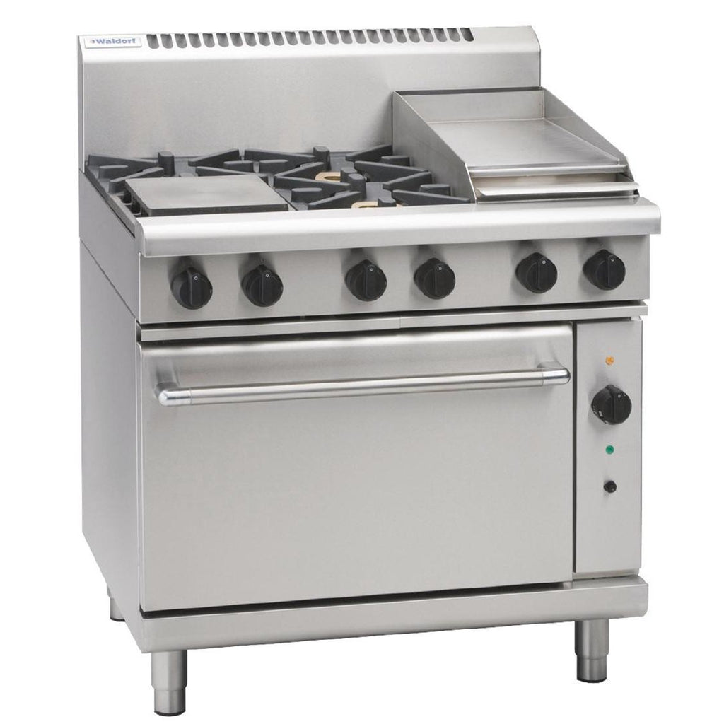 Waldorf by Moffat 4 Burner Oven with Griddle Plate LPG