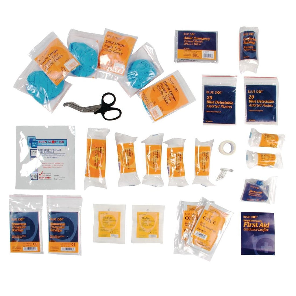 Blue Dot First Aid Kit Refill Catering Small