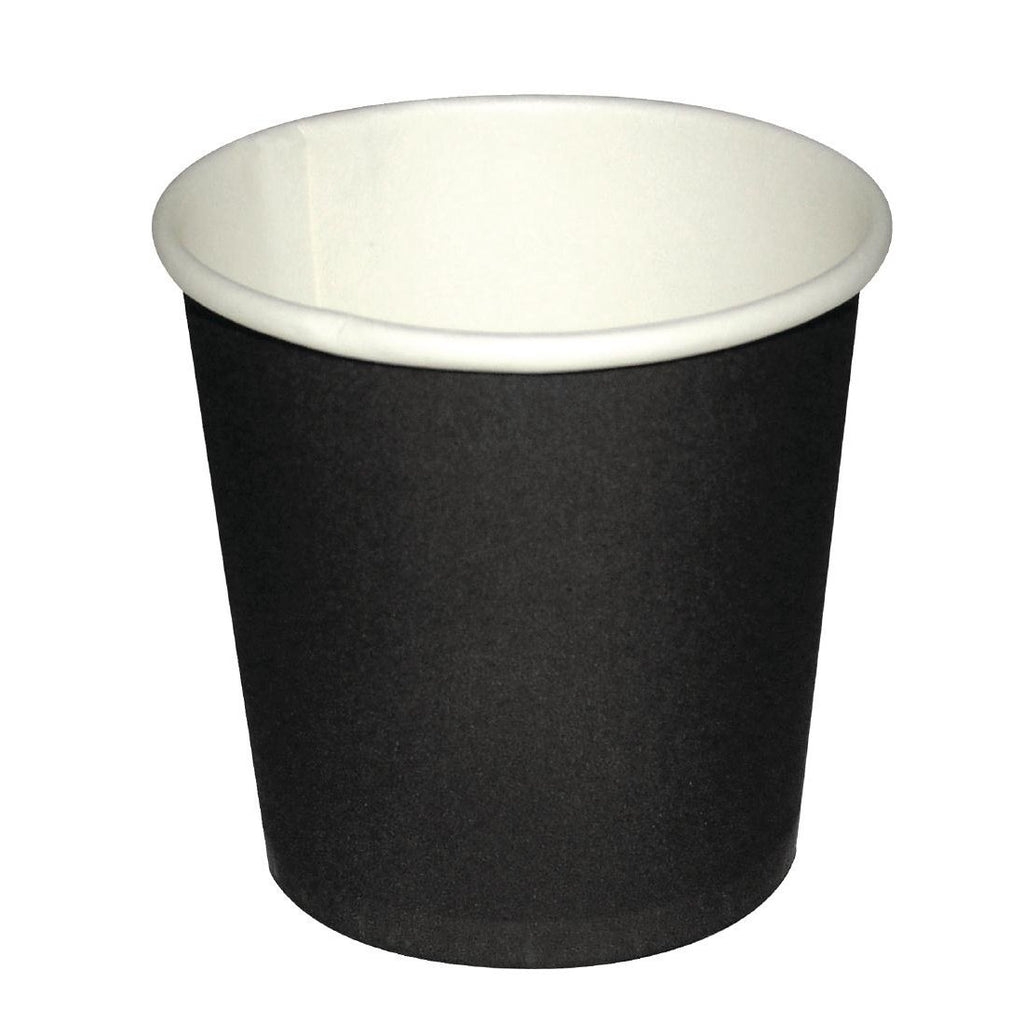 1000PCE Fiesta Disposable Black Espresso Cups 112ml