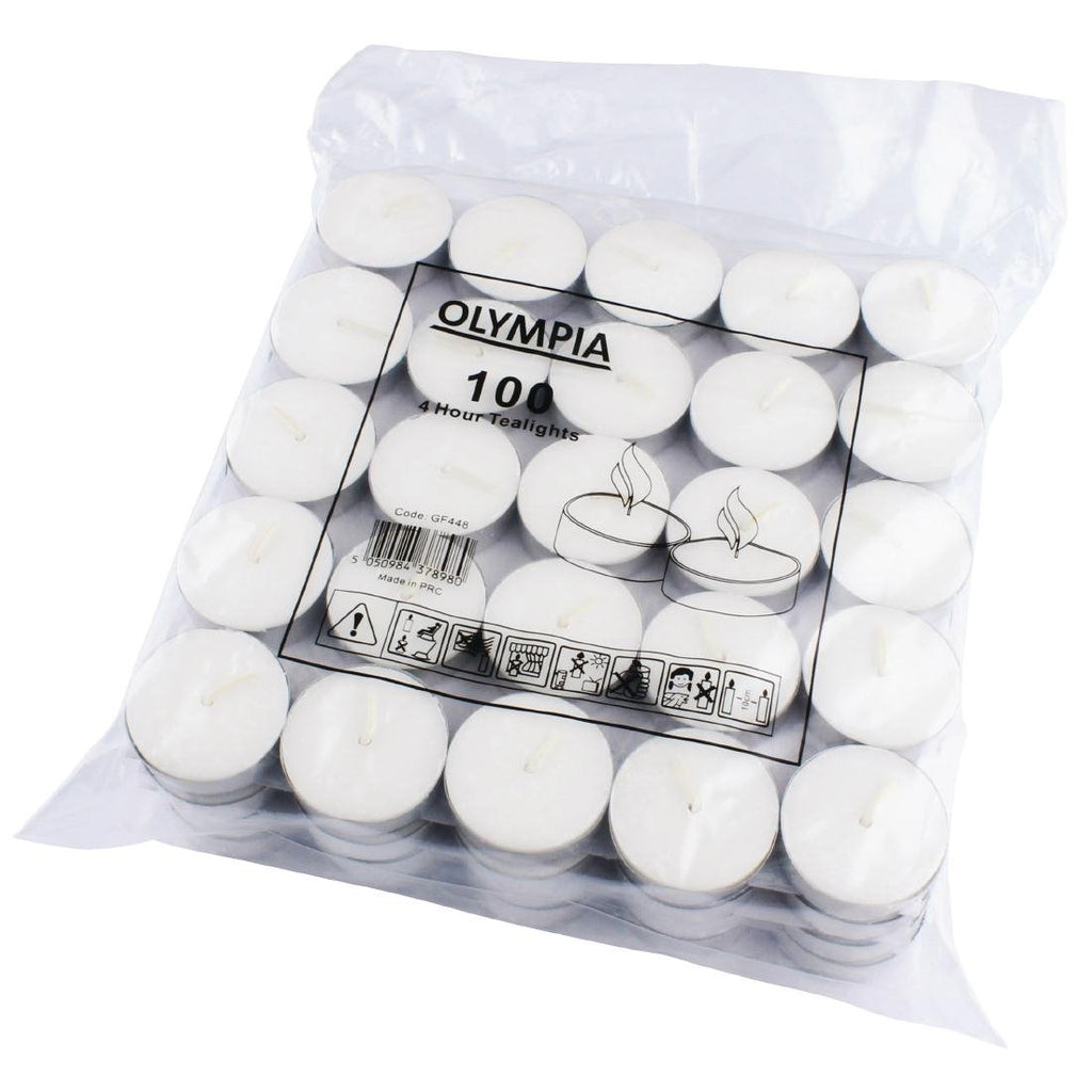 100PCE Olympia 4 Hour Tealights