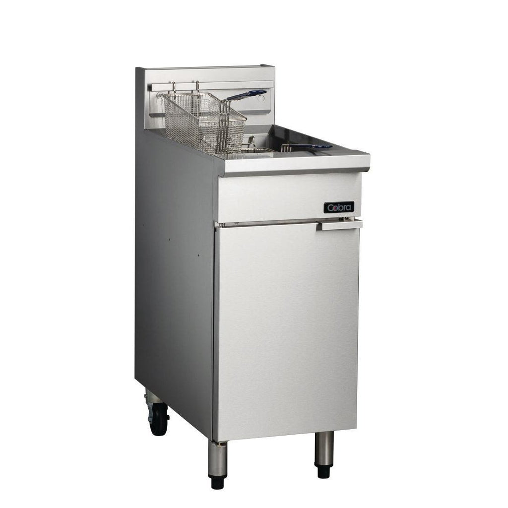 Cobra by Moffat Freestanding Propane Gas 1 Pan 18L Deep Fryer with Two Baskets