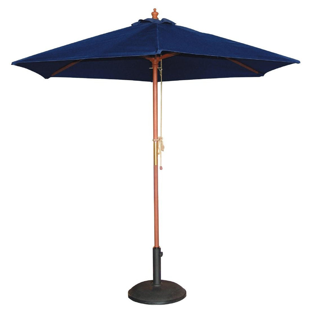 Bolero Round Navy Blue Outdoor Umbrella 2.37m high