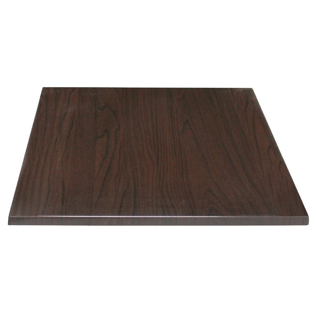 Bolero Square Table Top Dark Brown 600mm