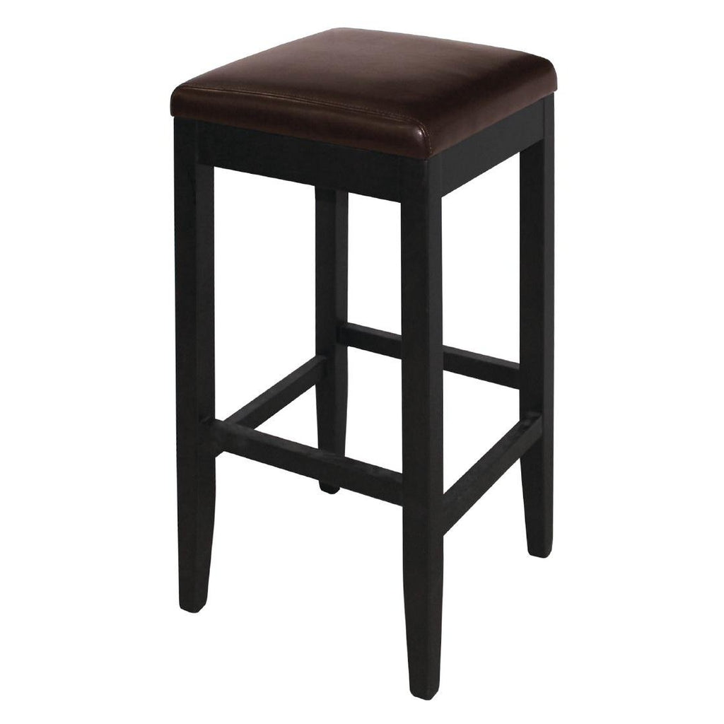 2PCE Bolero Faux Leather High Bar Stools Dark Brown - ICE Group