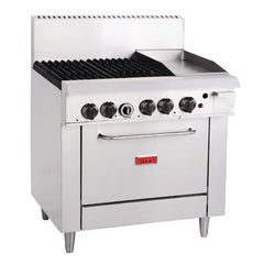 Thor 4 Burner Propane Gas Oven Range with Griddle Plate - icegroup hospitality superstore