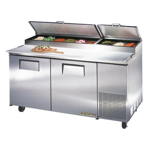 True Pizza Prep Table 2 Door Stainless Steel