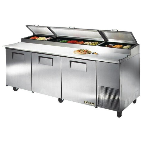 True Pizza Prep Table 3 Door Stainless Steel