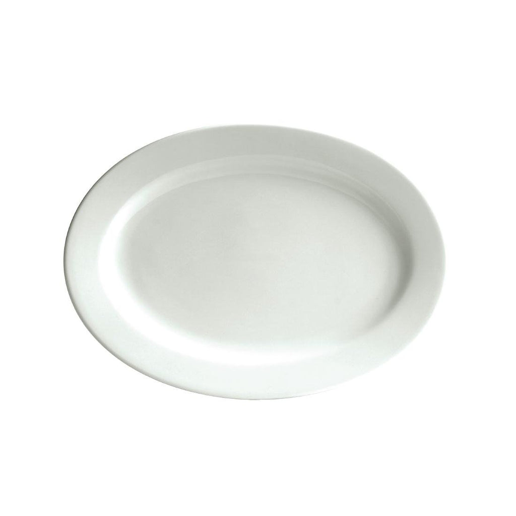 24PCE Australian Fine China Bistro Oval Plates 285mm