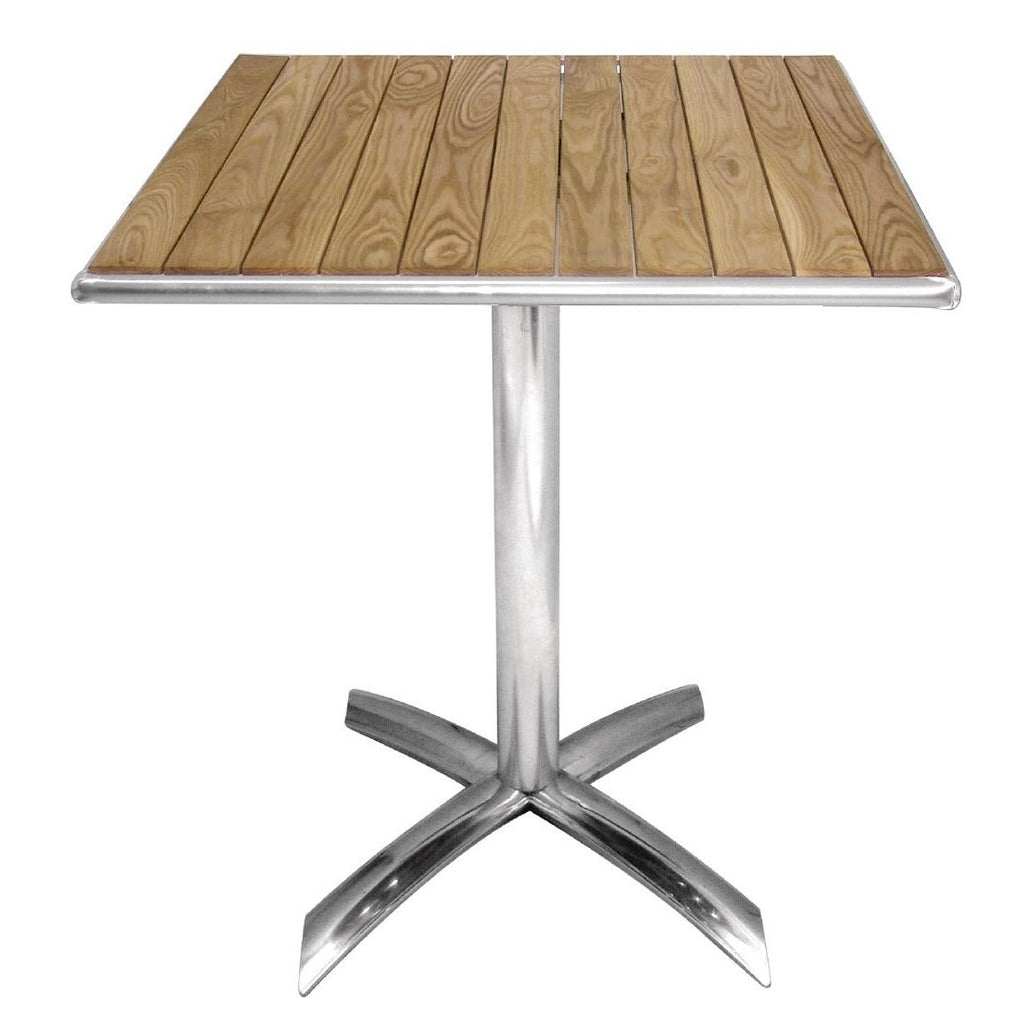 Bolero Ash Flip Top Square Bistro Table 600mm - ICE Group HospitalityWarehouse