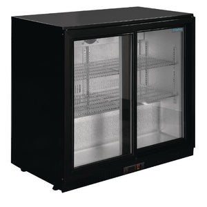 Polar 198L G-Series Under Counter Back Bar Cooler - Sliding Doors
