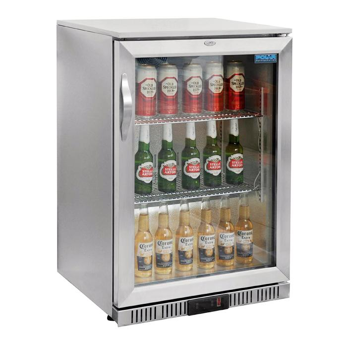 Polar 138L G-Series Back Bar Cooler with S/S Hinged Door