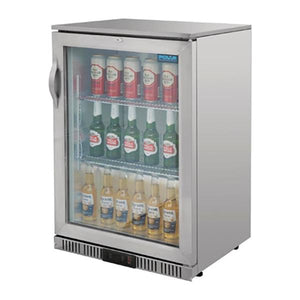 Polar 138L G-Series Back Bar Cooler Stainless Steel Hinged Door
