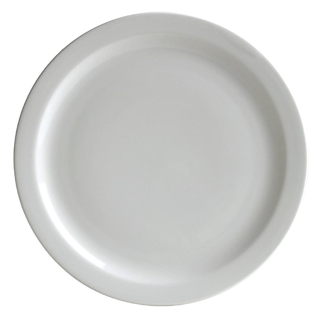 12PCE Australian Fine China Flinders Narrow Rim Plate 230mm