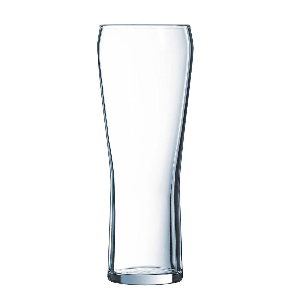 24PCE Arcoroc Edge Beer Glass 285ml