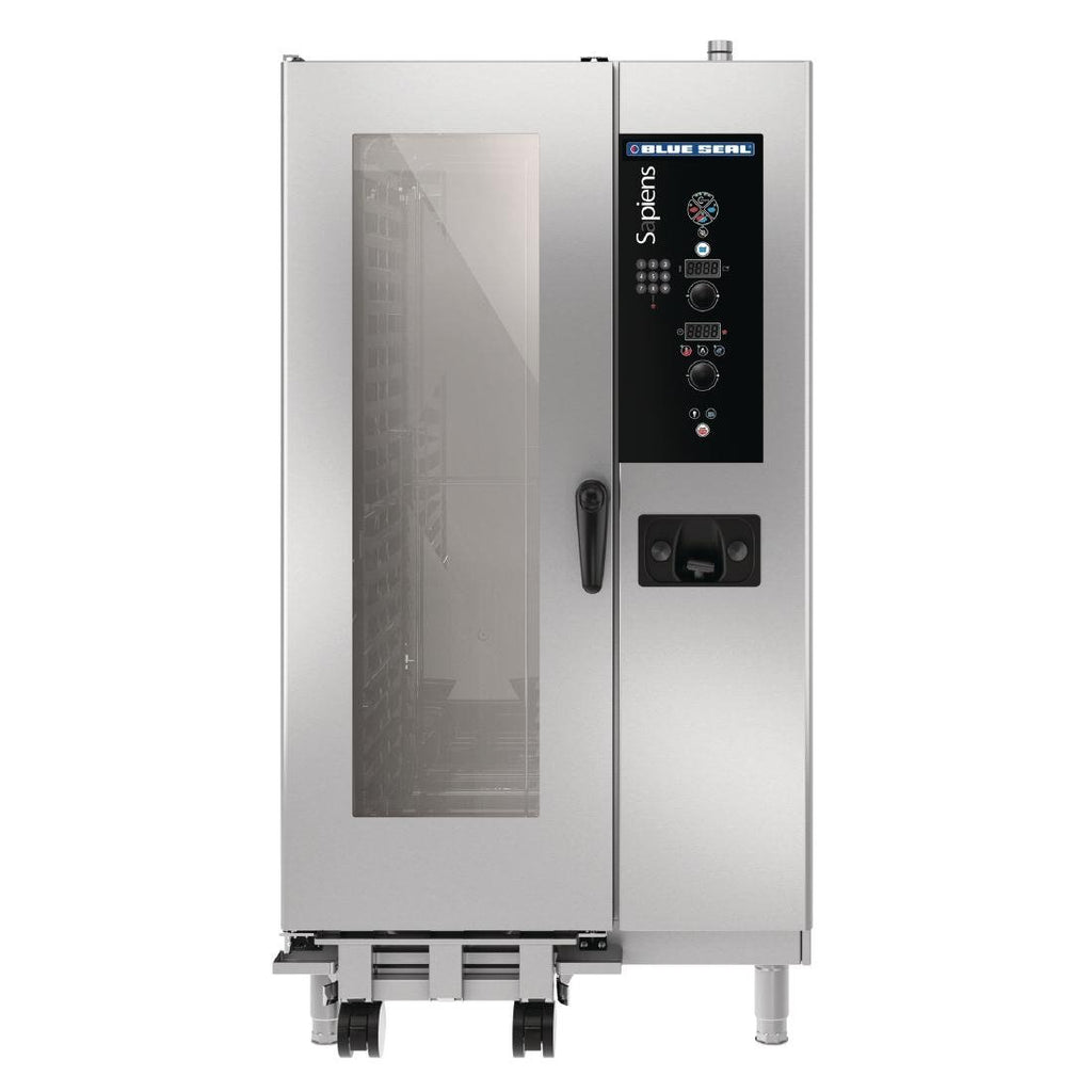 Blue Seal by Moffat Sapiens 20X 1/1 GN Tray Roll In Combi Oven with Fully Automatic Cleaning System LPG G21SDW