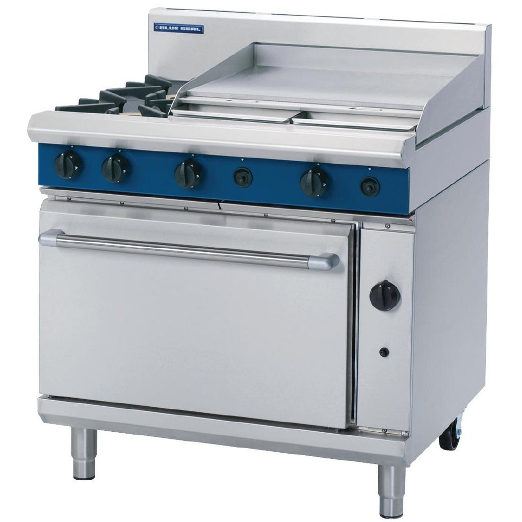 Blue Seal by Moffat 900mm 2 Burner Oven Range with Griddle LPG