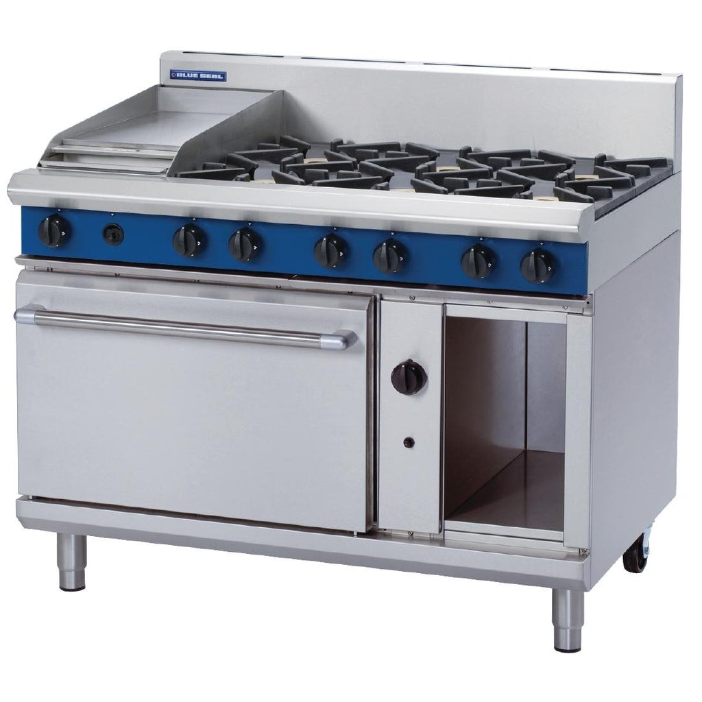 Blue Seal by Moffat 1200mm 6 Burner Oven Range with Griddle LPG