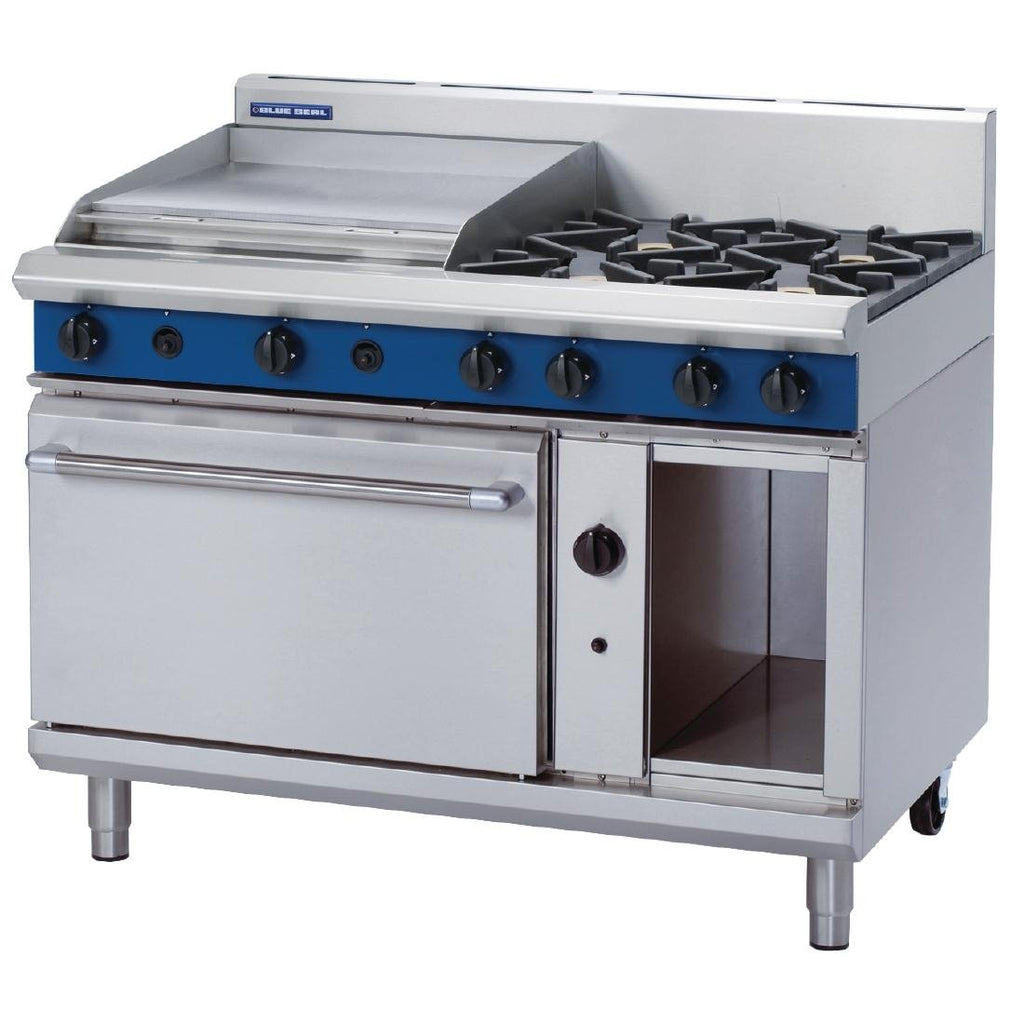 Blue Seal by Moffat 1200mm Oven Range with 4 Burners and Griddle LPG