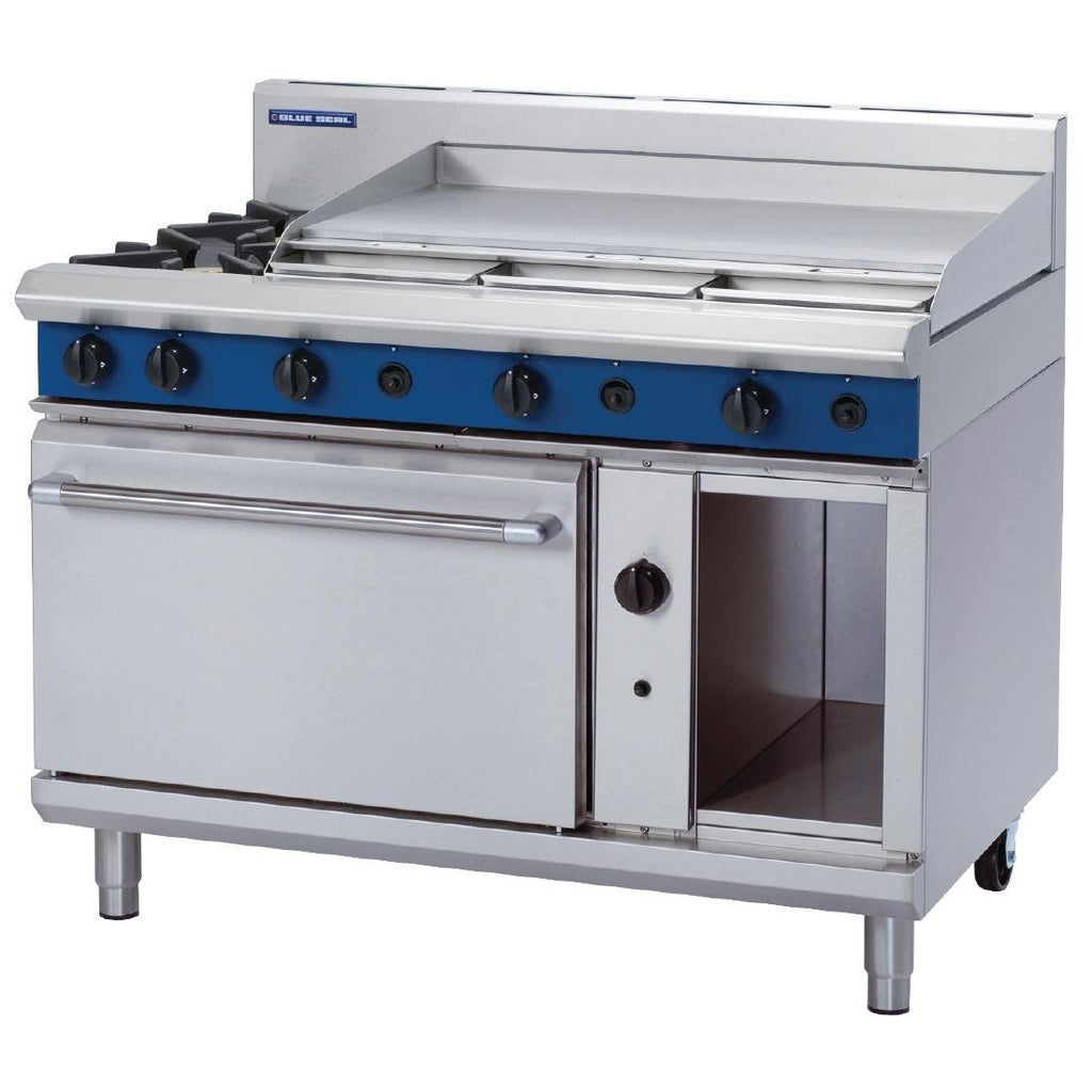Blue Seal by Moffat 1200mm Oven Range with 2 Burners and Griddle LPG G508A