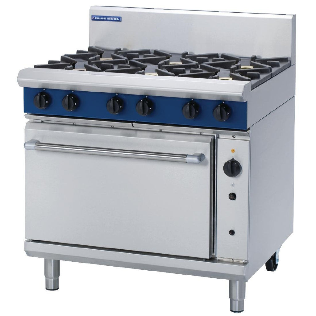 Blue Seal by Moffat 900mm Convection Oven Range with 6 Burners Natural Gas G56D