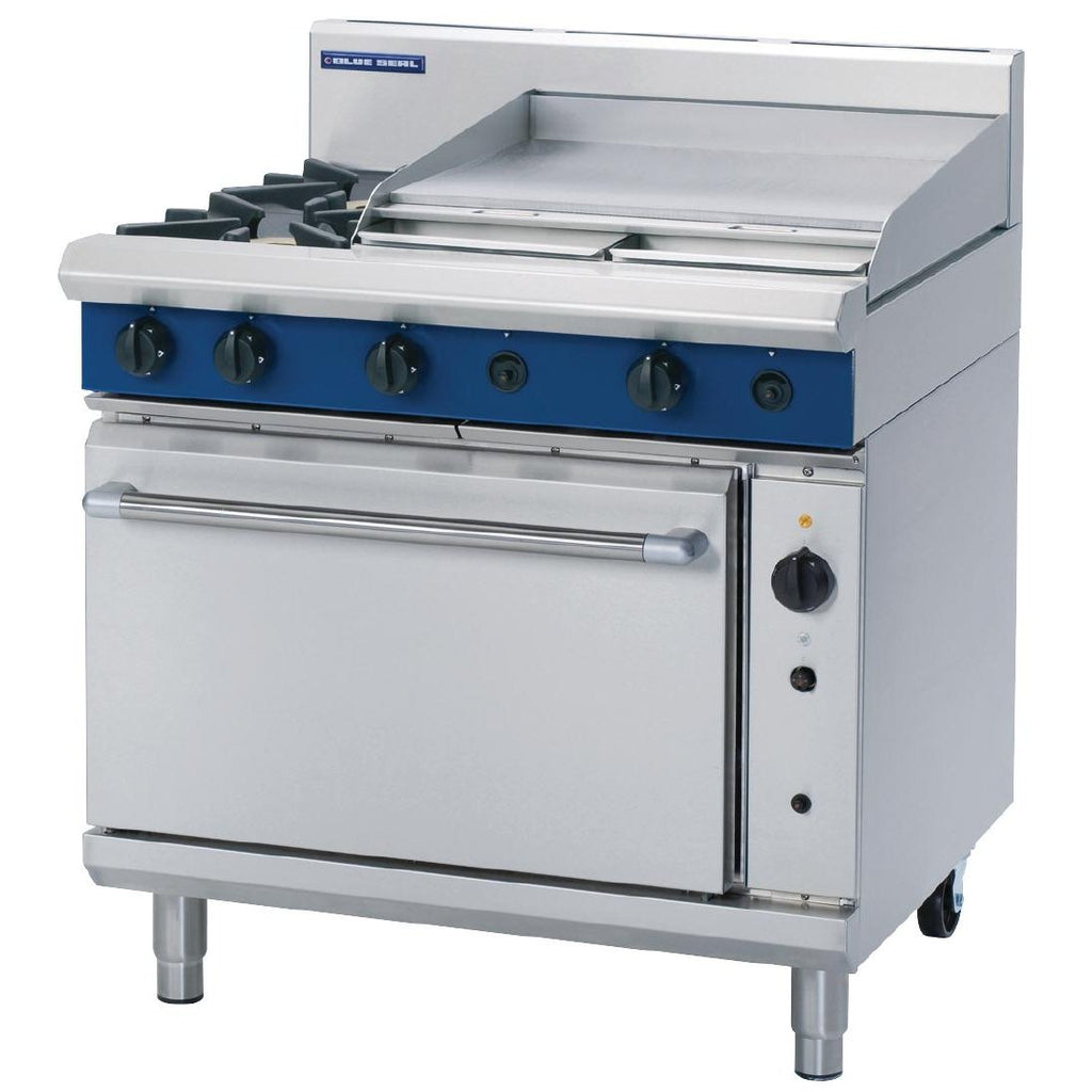 Blue Seal by Moffat 900mm Convection Oven Range with 2 Burners and Griddle - ICE Group