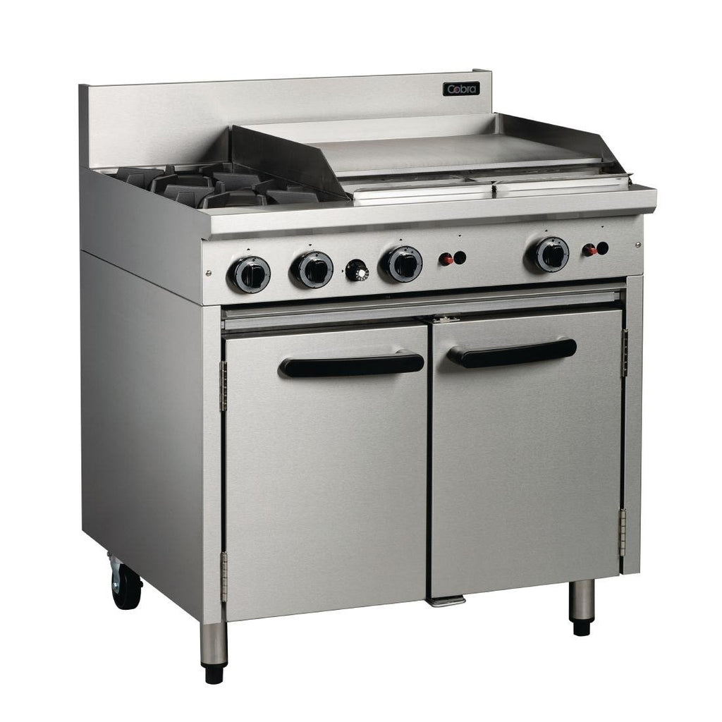 Cobra by Moffat Oven Range with 2 Burners and Griddle LPG CR9B