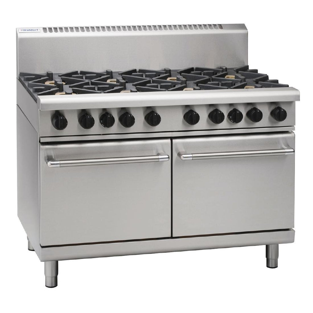 Waldorf by Moffat 1200mm Static Oven Double Oven Range with 2 Burners and Griddle LPG
