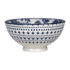 Gusta Out Of The Blue Flowers Round Bowl Blue 100mm - icegroup hospitality superstore