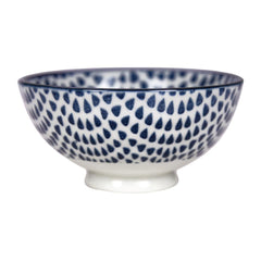 Gusta Out Of The Blue Drops Round Bowl Blue 100mm - icegroup hospitality superstore