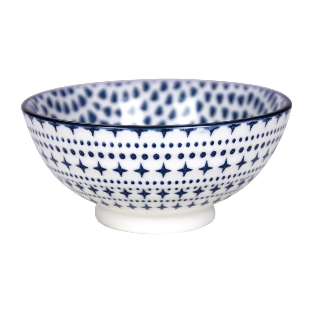 6PCE Gusta Out Of The Blue Drops Round Bowl Blue 120mm