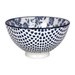 Gusta Out Of The Blue Flowers Round Bowl Blue 135mm - icegroup hospitality superstore