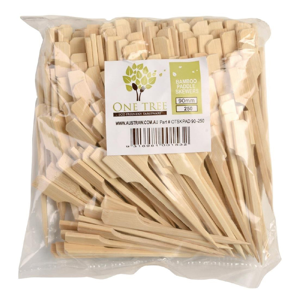 250PCE Bamboo Paddle Skewers - 180mm