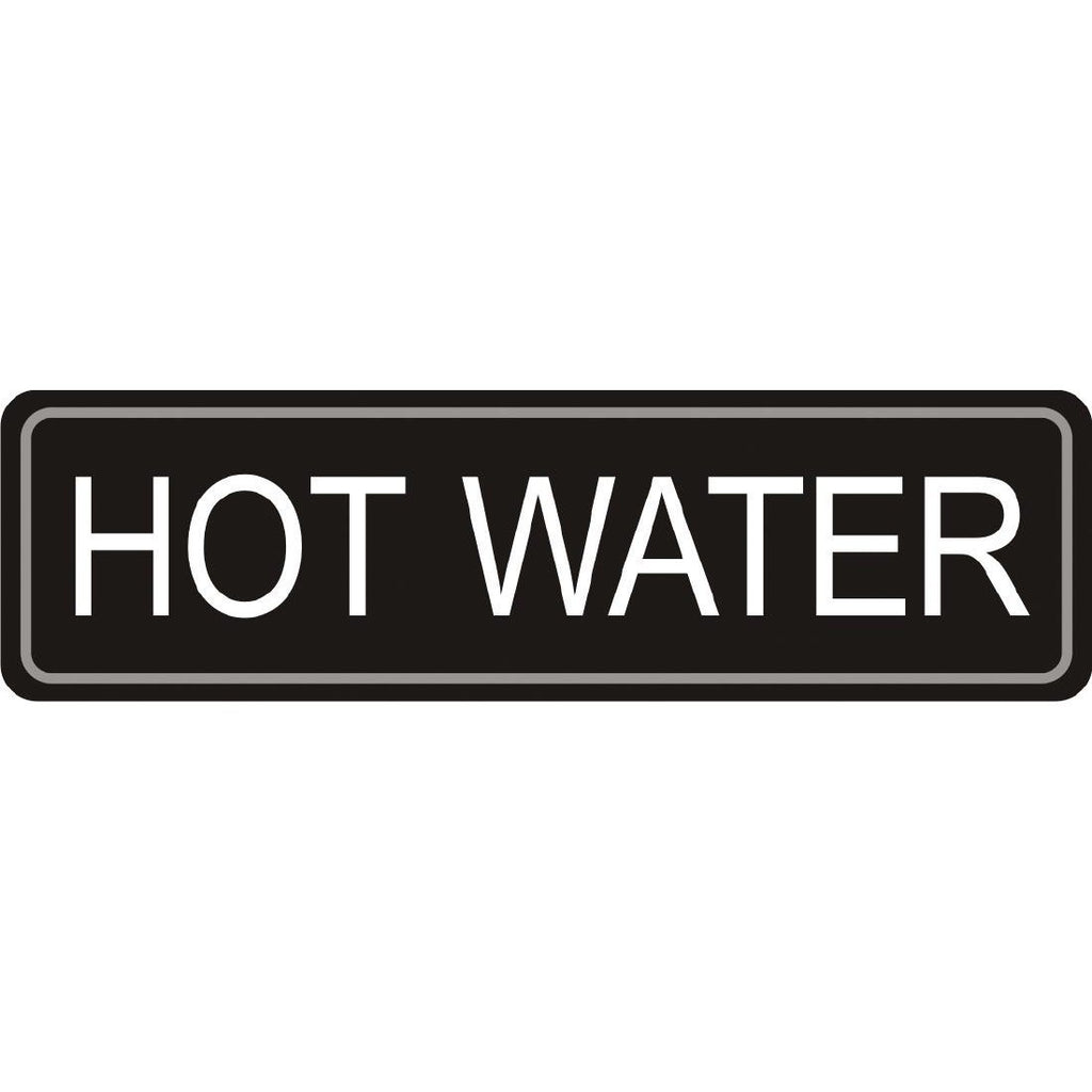 Airpot Hot Water Label 7x2cm
