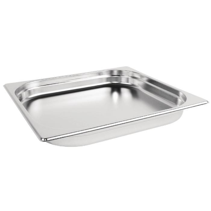 Vogue Stainless Steel 2/3 Gastronorm Pan 40mm