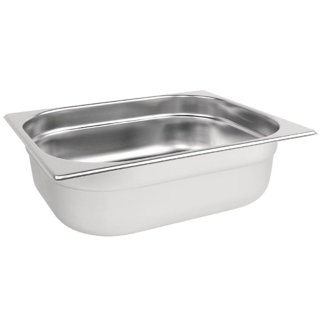 Vogue Stainless Steel 1/2 Gastronorm Pan 65mm