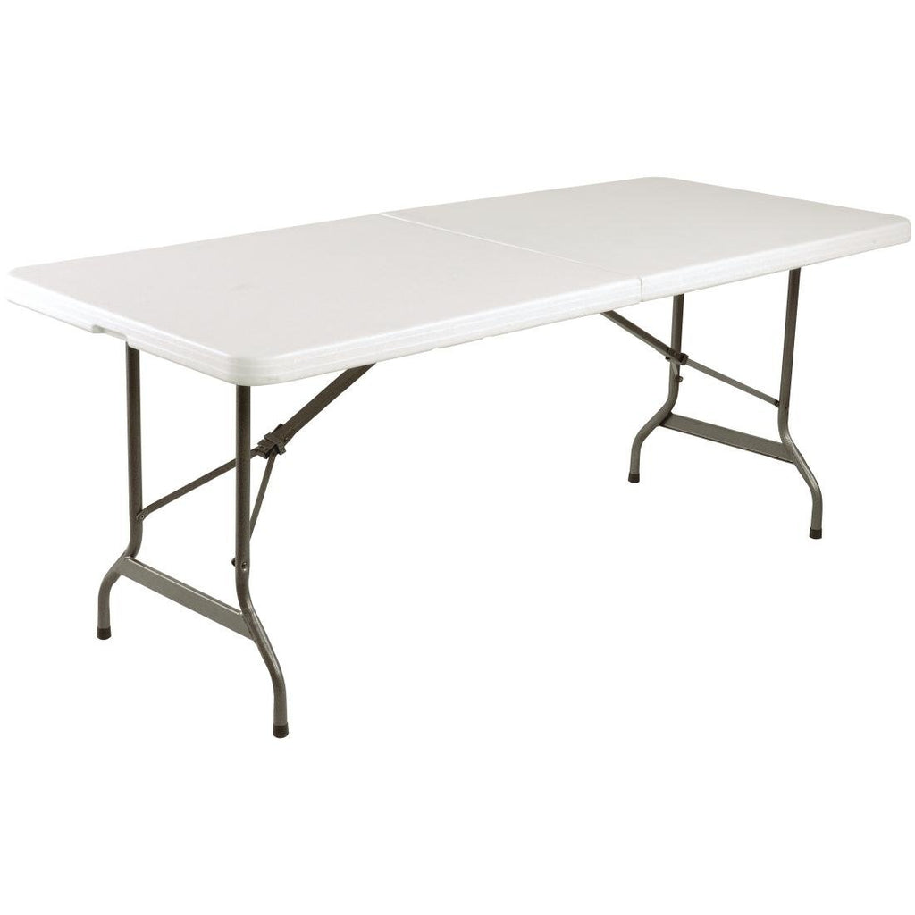 Bolero Centre Folding 6ft White Utility Table 1829mm