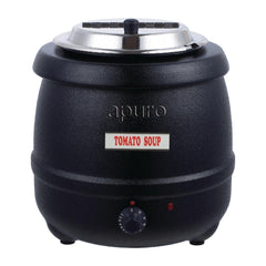 Apuro Black Soup Kettle with Lid 10L - ICE Group