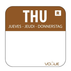 Vogue Removable Colour Coded Food Labels Thursday - icegroup hospitality superstore